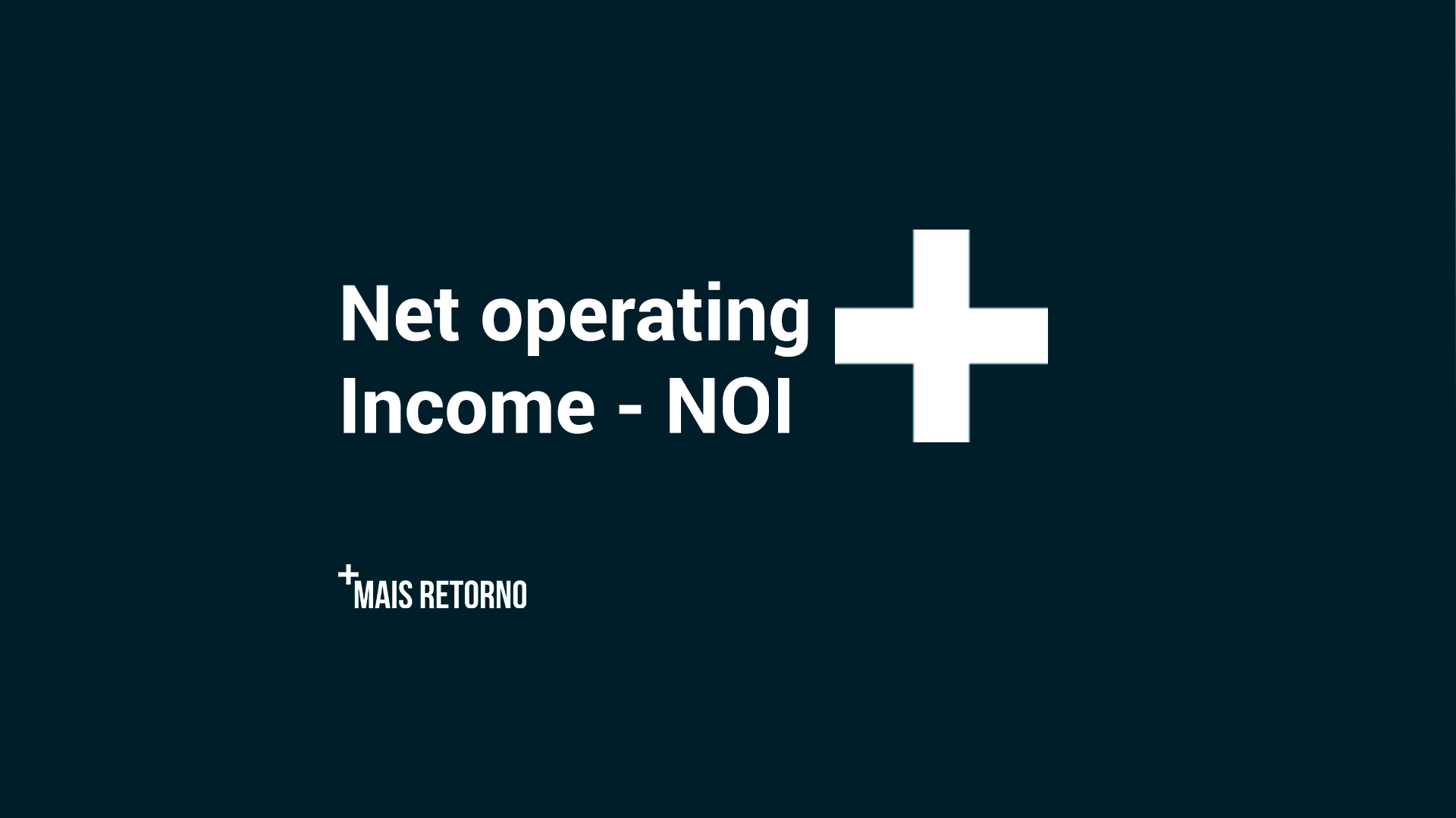 Net operating income - NOI