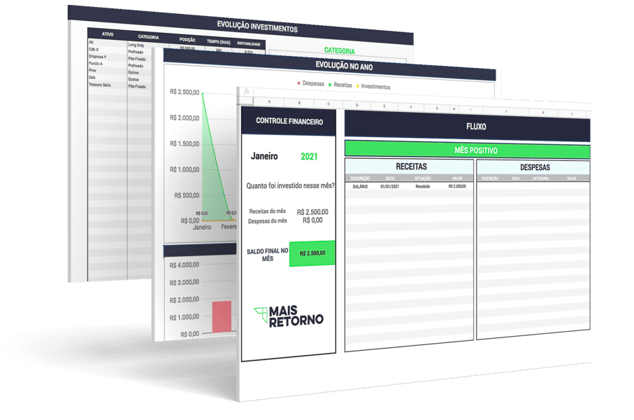 Planilha de Controle Financeiro e Investimentos