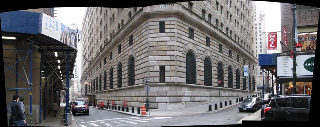 Fachada do prédio do Federal Reserve, na cidade de Nova York